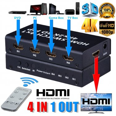 4 in 1 out  4Kx2K HDMI switcher with Picture In Picture