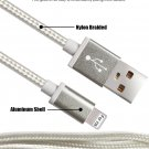 8 pin Super-B High Speed Nylon Braided USB Sync Charger Cables Cord for iPhone, iPad, iPod