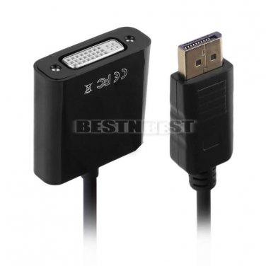 DP Displayport Male to DVI Female M/F 24 + 5 Cable Connection Converter Adapter