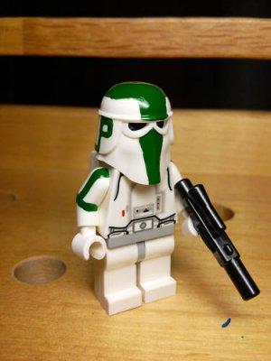 Lego Star Wars Custom Clone Wars Commander Gree Snowtrooper