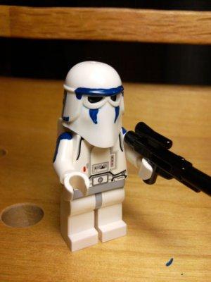 Lego Star Wars Custom Clone Wars Commander Denal Snowtrooper