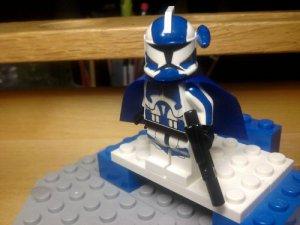 Lego Star Wars Clone Wars Trooper  Senior Arc Commander Alpha 17