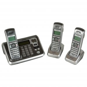 Uniden DECT2085-3 DECT 6.0 Digital Cordless Phone with 3 handsets - Silver