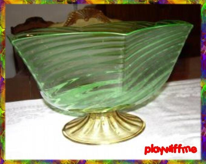 Steuben Footed Art Glass Bowl - RARE - c1932