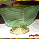 Steuben Footed Art Glass Bowl - RARE - c1932