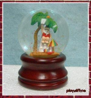 Mexican Snowman + Santa On The Beach Mini Water Globe