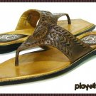 Lucchese Brown Leather Thong Sandals - Size 7 Medium