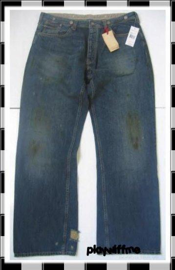 Ralph Lauren Polo Buckle Back Jeans $185 - RARE - 36/32