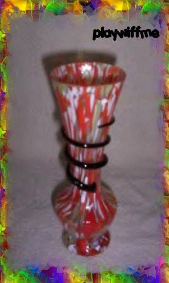 Czech Kralik Serpentine Art Glass Vase - Circa 1920's