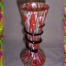 Czech Kralik Serpentine Art Glass Vase - Circa 1920's