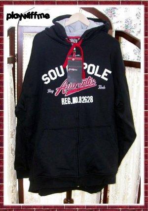 SouthPole Men's Sweatshirt Zippered Hoody Jacket - XL