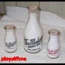 N.Y. Milk Bottles - Malone Dairy (2) + Plattsburg Dairy (1)