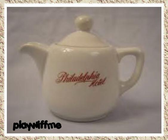 Vintage OLD Philadelphia Hotel Individual Room Service Teapot