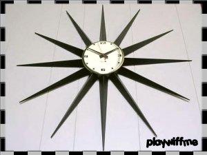 Vintage Westclox Starburst Atomic Eames Era Wall Clock