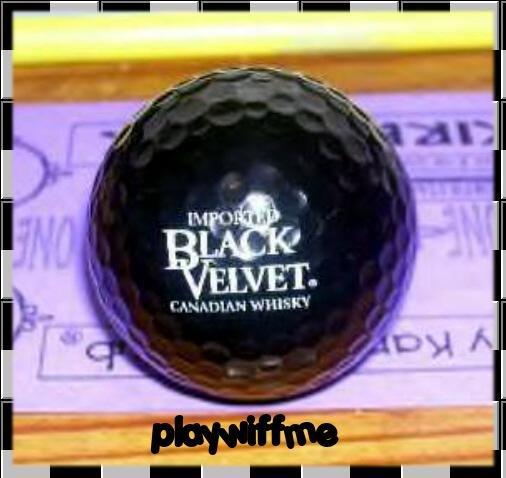 Black Velvet Canadian Whisky Black Logo Golf Ball - New