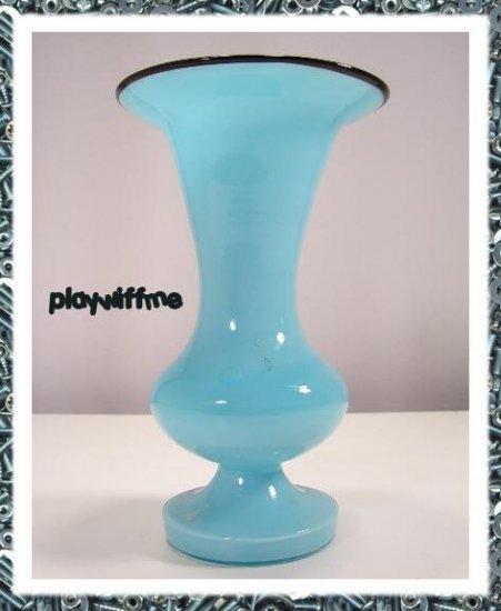 Blue Tango Powolny Vintage Deco Glass Czech Loetz Vase