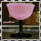 Loetz Tango Deco Glass Wine Stem Powolny - Signed