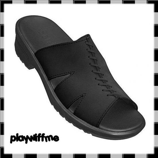 Sanita Black Slide Sandals - Women's Size 7 Medium