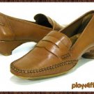 Modellista Camel Tan Leather Loafers - Women's Size 6.5 Medium