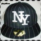New York Fitted Embroidered Baseball Cap - Size Large