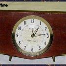 Westclox Penthouse Mahogany Alarm Clock - Vintage