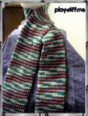 Hand Knitted Scarf Without Fringes