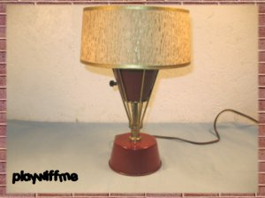 Art Deco Metal Table Desk Lamp Light
