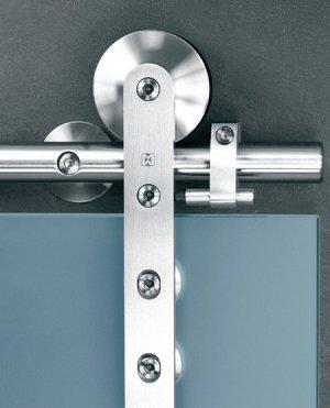 Stainless Steel Barn Door Hardware For Glass Door