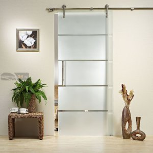 Modern Stainless Steel Glass Sliding Door Fitting Set With Free Shipping