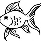 Gold Fish Custom Vinyl Sticker Decal, Car Decal, Bumper Sticker, Laptop Decal, Window Sticker