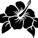 Hibiscus Custom Made Vinyl Sticker Decal, Car Decal, Bumper Sticker, Laptop Decal, Window Sticker