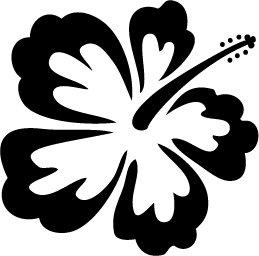Hibiscus Custom Vinyl Sticker Decal 002, Car Decal, Bumper Sticker, Laptop Decal, Window Sticker