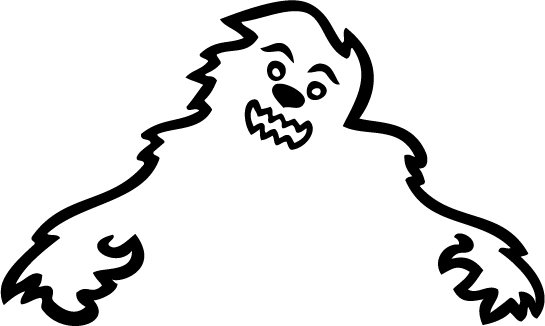 Skoda Yeti Happy Monster Custom Vinyl Sticker Decal, Car Decal, Bumper Sticker, Window Sticker