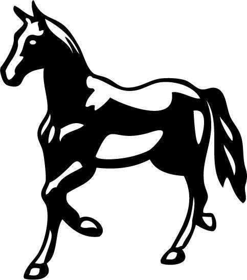 Horse Vinyl Sticker Decal 002, Car Decal, Bumper Sticker, Laptop Decal, Window Sticker
