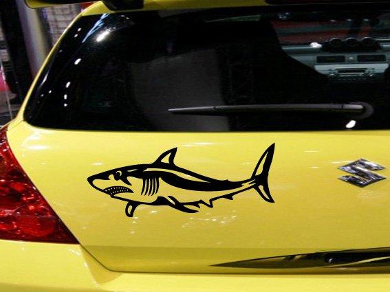 Shark Custom Vinyl Sticker Decal 003, Car Decal, Bumper Sticker, Laptop Decal, Window Sticker