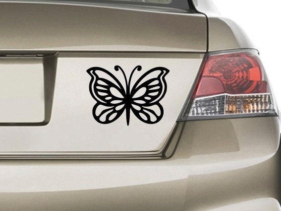Butterfly Custom Made Vinyl Sticker Decal, Car Decal, Bumper Sticker, Laptop Decal, Window Sticker