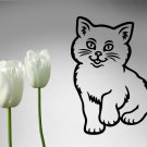 Cute Cat Vinyl Sticker Decal 002, Car Decal, Bumper Sticker, Laptop Decal, Window Sticker