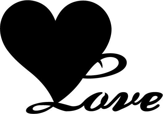 Heart Love Custom Made Vinyl Sticker Decal, Car Decal, Bumper Sticker, Laptop Decal, Window Sticker