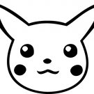 Pikachu Custom Made Vinyl Sticker Decal, Car Decal, Bumper Sticker, Laptop Decal, Window Sticker