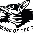 Beware Of The Dog Custom Vinyl Sticker Decal, Car Decal, Bumper Sticker, Laptop Decal