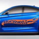 Large Hot Rod Hot Wheels Flames Car Body Vinyl Decals - 2 Pieces - Pastel Orange
