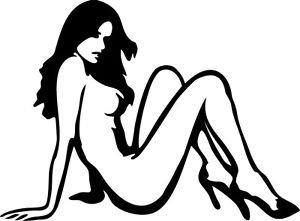 Sexy Girl Sticker Decal - Car Decal, Bumper Sticker, Laptop Decal, Wall Decal 01