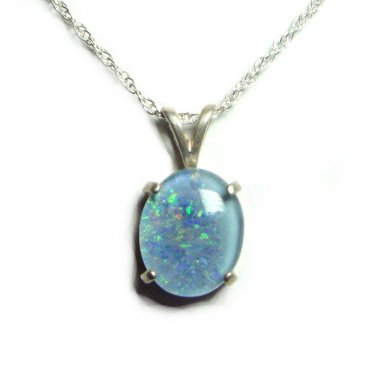 11x9mm Opal triplet pendant with chain