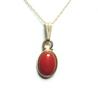 Carnelian pendant with chain