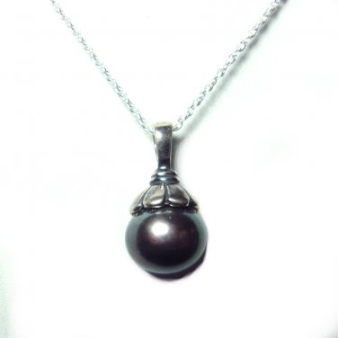 8.5mm pearl pendant with chain