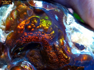 Breathtaking Fire Agate Gemstone Carving A+ Gem Quality Collectors Piece SLM036