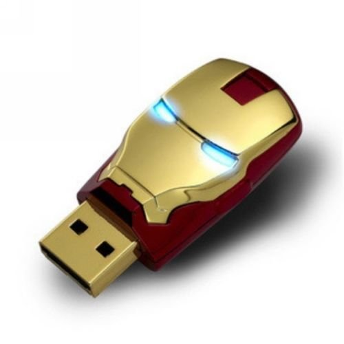 New LED Marvel Avengers Iron Man 64GB USB 2.0 Flash Pen Drive 64G Memory Stick