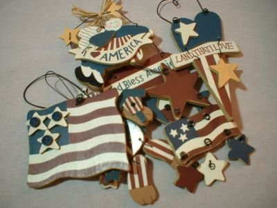 6 - Patriotic Ornaments