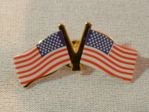 Dual USA Flag Clutch Pin