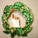 Christmas Wreath Pin/Broach